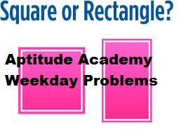 square-rectangle problem